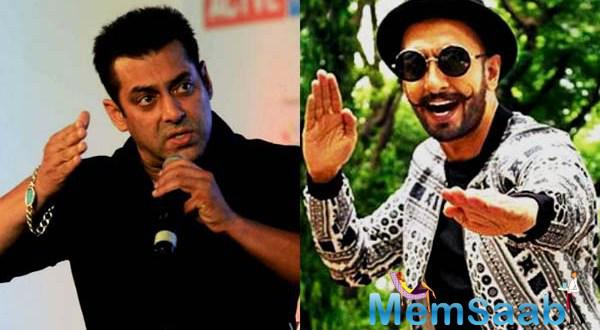 Salman Khan is not very happy about Ranveer Singh's recent act when he was caught dancing in front of a theatre screen that was running