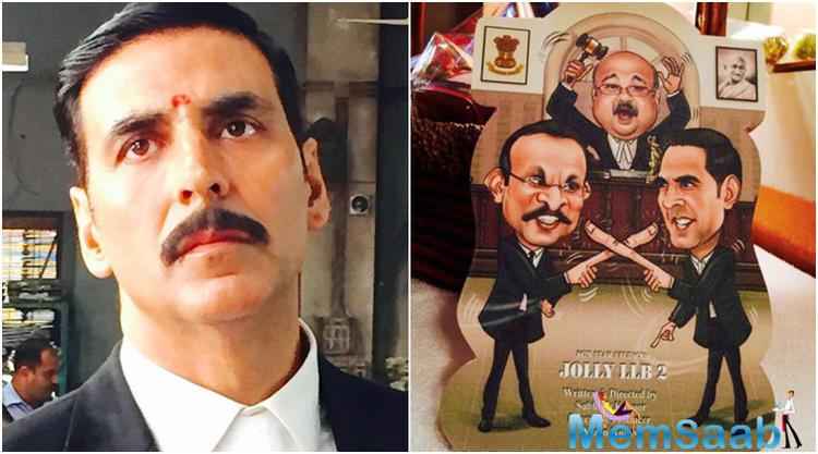 Akshay Kumar is all set for his new film which is a sequel to the 2013 popular courtroom comedy drama Jolly LLB. Akshay Kumar's look in