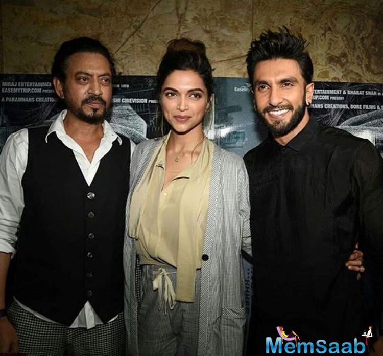 Ranveer Singh got irritated when Deepika Padukone was asked about their rumoured engagement, and requested reporters to ask good questions.