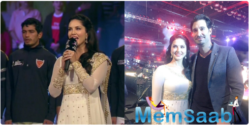 Meanwhile,35-year Sunny Leone seemed ecstatic to have got the honour of singing the national anthem at the event. She even tweeted about it