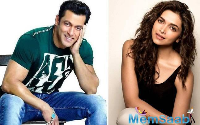 Deepika and Salman have never worked together before. Deepika and Katrina Kaif's names had emerged for the lead actress role opposite Salman in Tubelight.