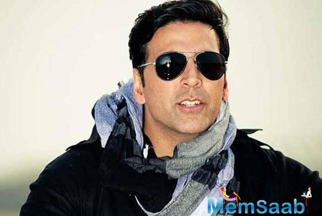 Presenting Akshay Kumar in a never seen before avatar for a special cameo in Rohit Dhawan's Dishoom.  Akshay hasn't tried such a look before.