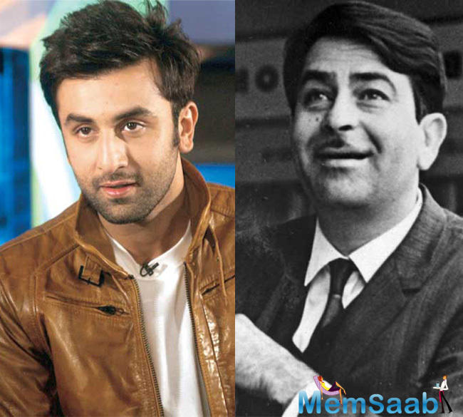 Plans are afoot to cast Ranbir Kapoor as his own illustrious grandfather Raj Kapoor in a film that Ranbir's father Rishi Kapoor will produce under the family's banner RK Films.
