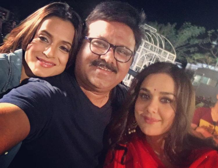Preity Zinta has started shooting for the upcoming film Bhaiyyaji Superhitt here.