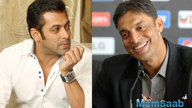 Recently Shoaib Akhtar says he often visits Bollywood superstar Salman Khan's house to meet his family.