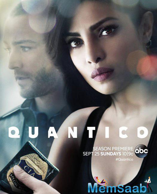 In the poster, Priyanka features with actor Jake McLaughlin, who plays Ryan Booth in the show. She will reprise her role as a former FBI recruit-now-CIA agent Alex Parrish in season 2.