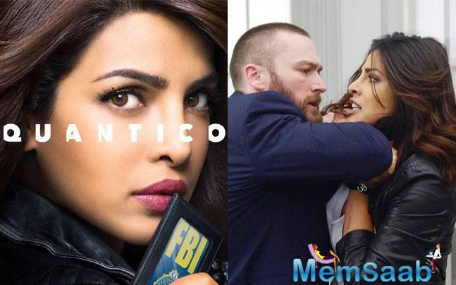 "Priyanka Chopra tweeted this first look of Quantico Season 2, saying, ""From the FBI to the CIA… #AlexParrish is back! New story, new look & lots of new faces! Season…"""