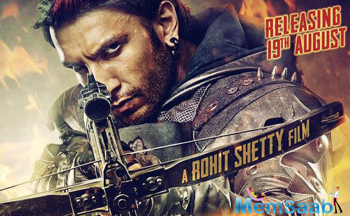 Ranveer looks extremely badass on the poster, where he is holding a quiver and bow.