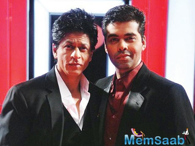 "44 year Karan Johar feels his best buddy Shah Rukh Khan has the most intelligent mind ""in the business."""