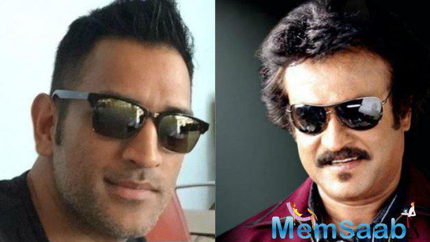 The current captain of the Indian national cricket team Dhoni, also calls himself a true-blue Rajinikanth fan.