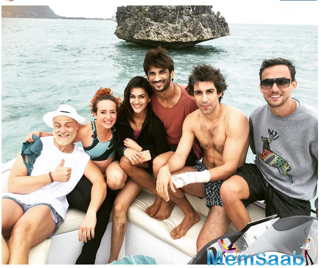 Rumoured couple returned from Mauritius the duo Kriti and Sushant went for an adventure. Later, the actress shared the picture with her fans on her Instagram account.