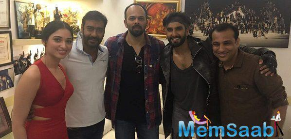 Ranveer , Rohit Shetty, and Tamannah Bhatia  launched their ad it shows Ranveer as a messiah of masses and is packed with high-octane action, a romantic angle, dance number and not-to-miss moment.