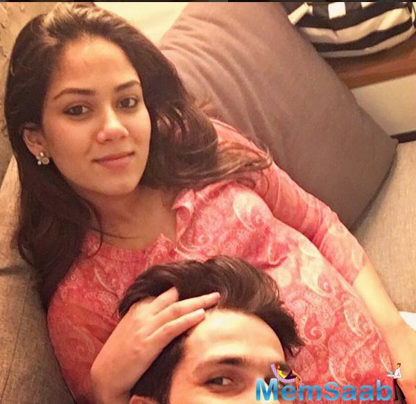 The 'Udta Punjab' star, said he will take a break once the newborn arrives, and shared an adorable selfie on Instagram on Tuesday.