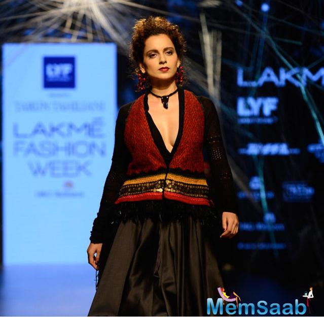 On Tuesday, bold and beautiful Kangana Ranaut walked the ramp at Lakme Fashion Week 2016