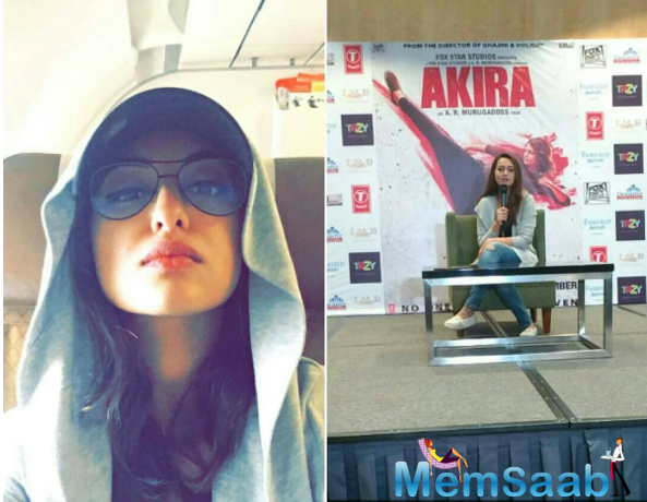 Indian rapper and actress Sonakshi Sinha had a hilarious experience on a flight with a pilot's announcement.