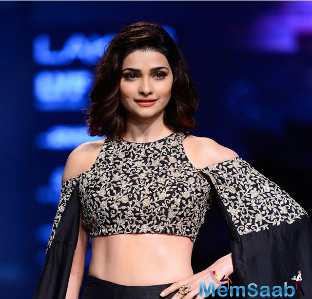 Desai opened the show in a charcoal black golden embroidered lehenga She took the ramp by storm as the showstopper at the ongoing LFW