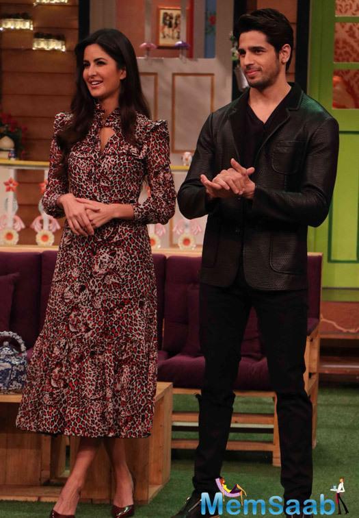 Finally, Katrina Kaif and Sidharth Malhotra have now reached The Kapil Sharma Show to promote their upcoming flick  Baar Baar Dekho.