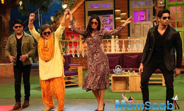 Kat-Sid will be seen dancing on their hit track Kala Chashma along with Kapil and the show performers.