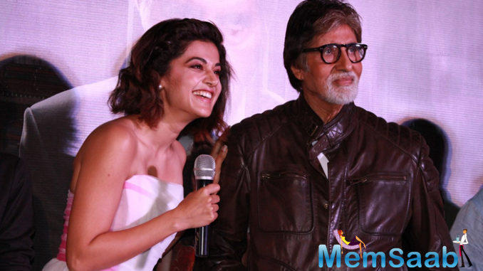 "In a recent interview pink actress Taapsee Pannu says, working with megastar Amitabh Bachchan gave me a ""different high""."