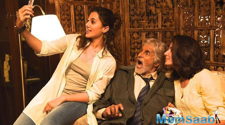When asked about, was Taapsee intimidated at sharing screen space with the cine icon?