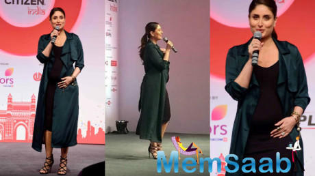 Kareena Kapoor Khan, who is pregnant, came to extend her support for the Global Citizen movement in India on Monday eve.