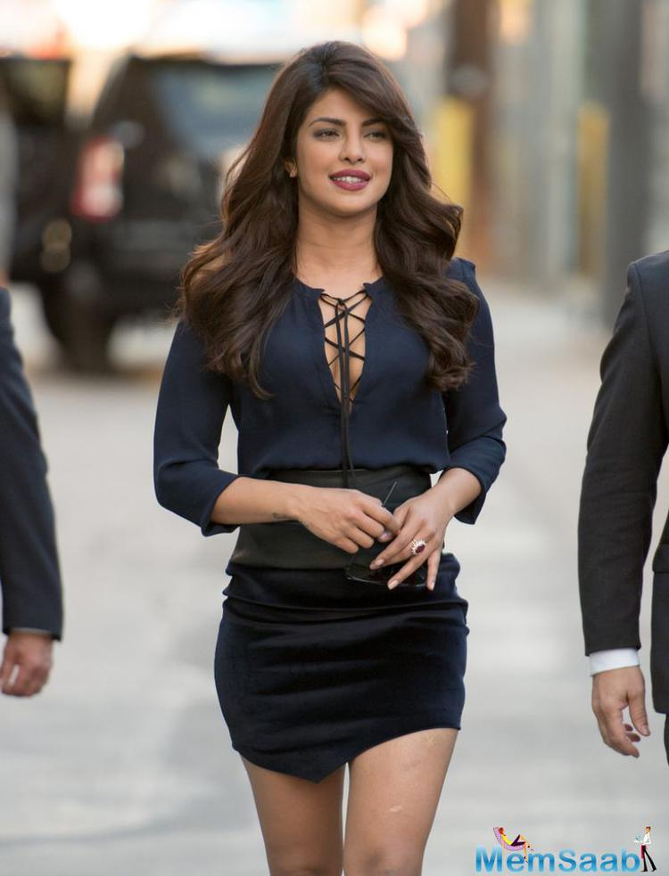 Priyanka, who was getting her international acting debut last year with American series Quantico and now is gearing up for its second season, bags The 8th spot on the Forbes list of highest paid tv actresses.
