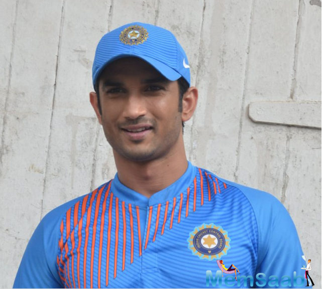 Sushant Singh Rajput donned team India's cricket Indian ODI jersey, at a promotional event for 'MS Dhoni: The Untold Story,' in which he'll be seen playing the Indian ODI skipper.