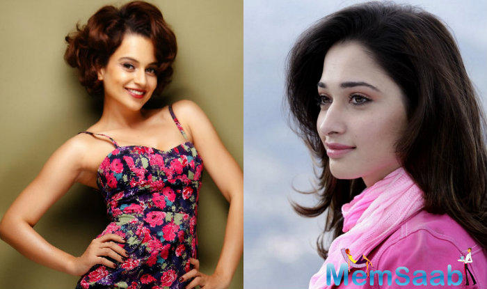Indian film actress and model Tamannaah Bhatia who  is a huge fan of Kangana Ranaut, and says the