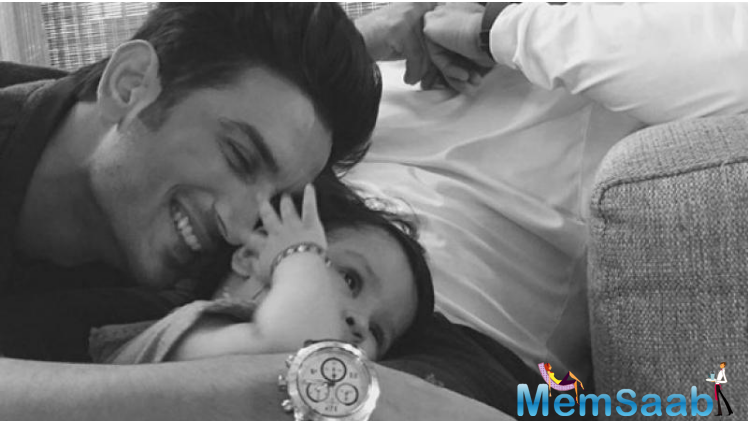 Sushant, who's quite close to MS' Dhoni little girl, Ziva, can often be spotted playing with the adorable kid and is known to share a special bond with her. Little Ziva is bonding with her on-screen dad, Sushant these days