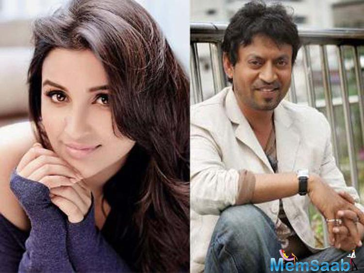 27 year Parineeti Chopra is excited as well as nervous about sharing screen space with Irrfan Khan in Homi Adajania's next flick, 'Takadum'.