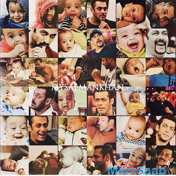 Arpita Khan, the beloved sister of Salman, Arbaaz and Sohail Khan.Now Arpita has shared a picture consisting of several pictures of Salman and Ahil showing similar sets of emotions.