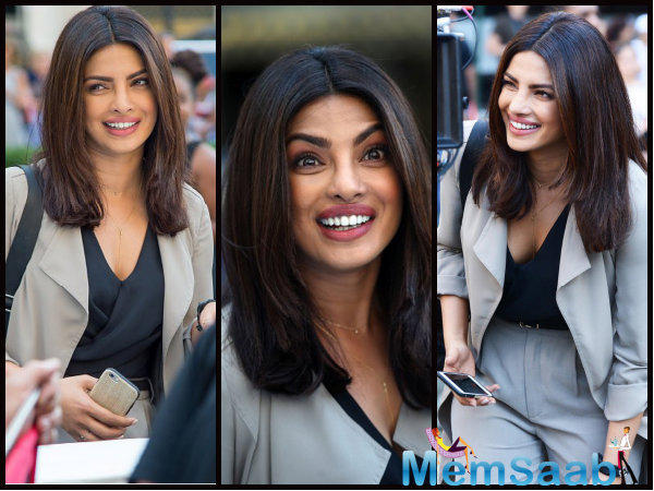 The actor, who will be seen in the show in Quantico second season, to celebrate the success of the show, recently hosted a get-together at her place on the day of the show's premiere.