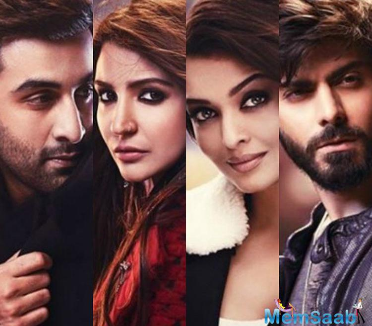 """We come to know the film director """"Karan's plans to bring together the actors Aishwarya, Ranbir Kapoor, Anushka Sharma and Fawad for the promotions."""