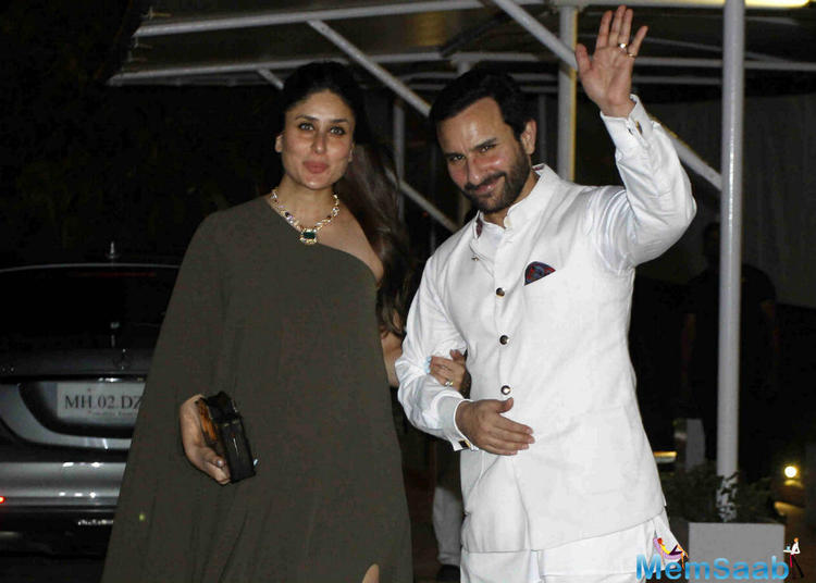 Yesterday, it was not only Ranbir Kapoor's birthday but also his aunt Rima Jain's 60th birthday .Saif and Kareena made an absolutely stunning appearance last night at a birthday party.