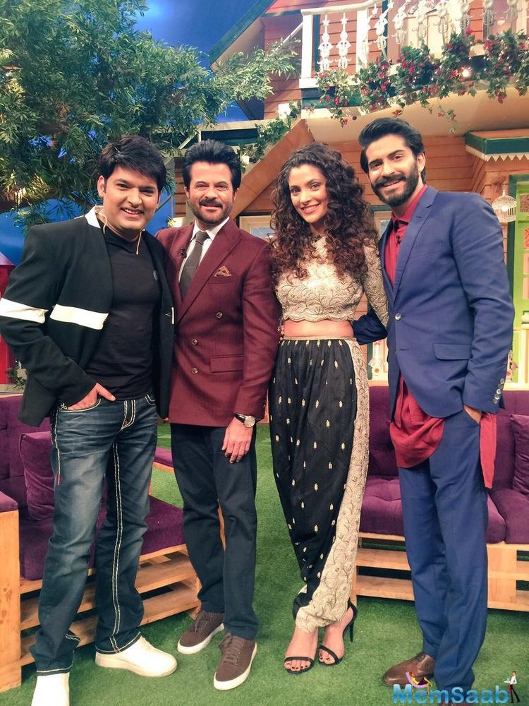 """Further, Kapil tweeted, """"@HarshKapoor_ it was a wonderful episode with all of u brother.. Good luck for #Mirzya n me n my team love u@AnilKapoor sir""""."""