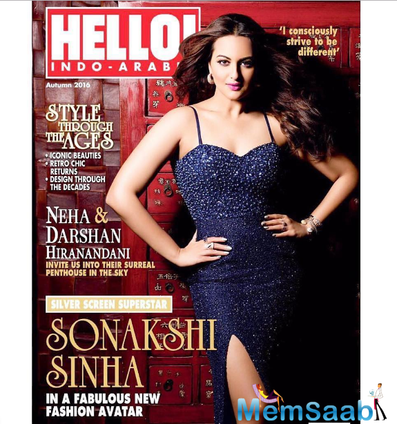 The magazine cover also features the 29-year actress with written words that say,