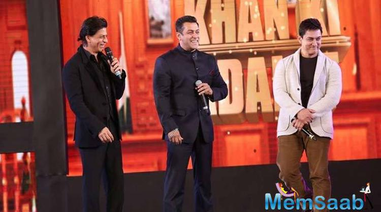 Fans of the Khans would be seriously hoping that one day they will come together for a film.