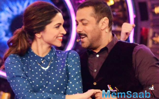 If sources to be believed, superstar Salman Khan and Deepika will come together, not in a film, but for a TV reality Show, Bigg Boss 10.