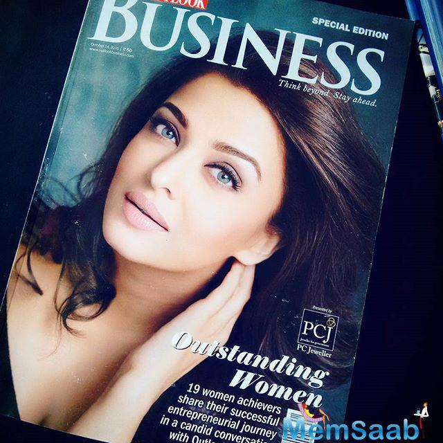 Aishwarya, who will next be seen in Bollywood upcoming movie Ae Dil Hai Muskil,  recently received the Outstanding Celebrity Woman of the Year award while featuring among Outlook Business' 19 outstanding women
