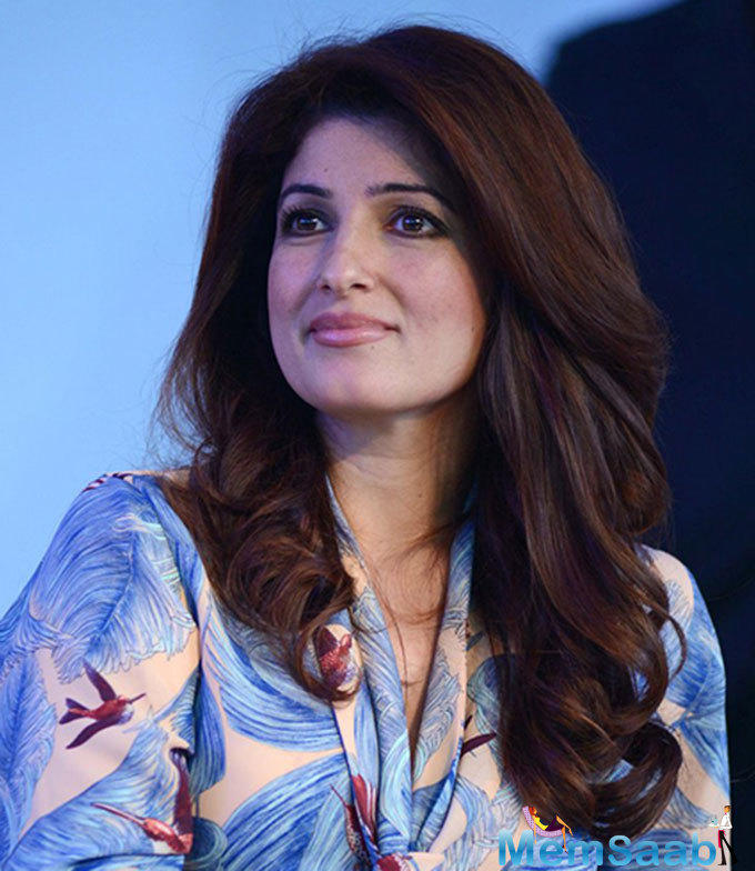 There is something precise and ruthless about Twinkle Khanna's beauty.The actress was in her usual high-spirited self and looked lovely in a stylish printed dress.