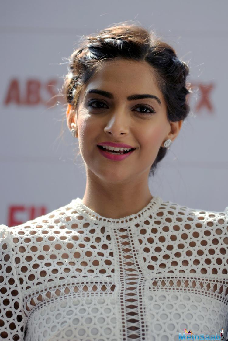 The Neerja star Sonam Kapoor told Neha he does it all the time (fake laughs). He always laughs a little after saying 'the life of the party and you are leaving