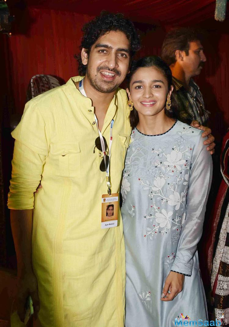 Actress Alia Bhatt too made her manner to seek blessings. She was accompanied by filmmaker Ayan Mukerji. The two are working Together in a superhero film that also stars Ranbir Kapoor.