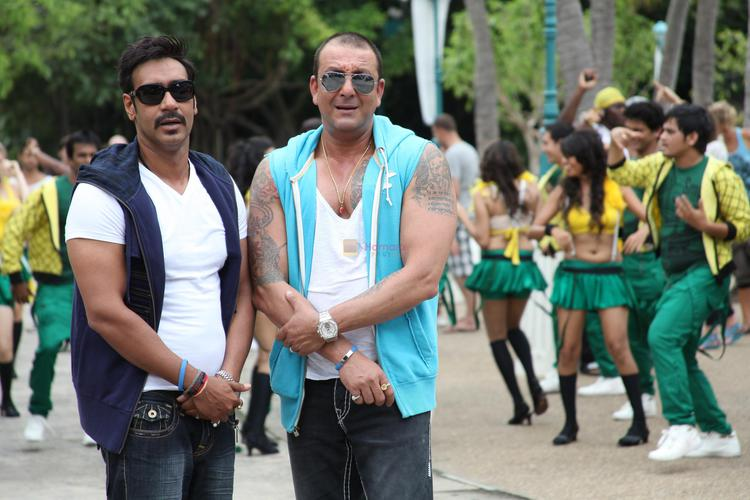 In fact, Ajay and Sanju have known each other much longer and the senior actor had done a parallel lead in Devgn's home production Son Of Sardar. Fortunately Sanju and Ajay's dates are more compatible.