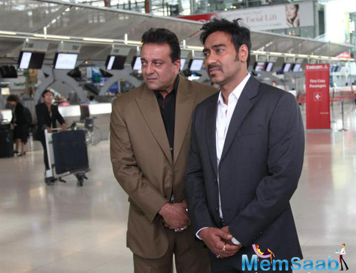A source adds that now they are trying to get pair Ajay with Sanjay Dutt.