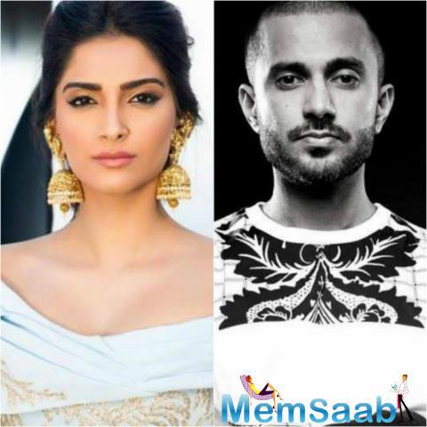 Sonam had claimed, she's never dated a Bollywood celebrity, here spotted with her rumoured beau Delhi based businessman Anand Ahuja at cousin's party.