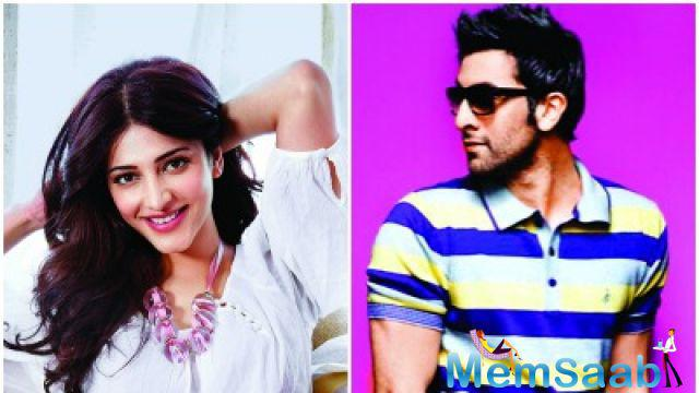 Shruti and Ranbir shot for an ad together. The two reportedly also went for a cozy dinner and have been in touch since.