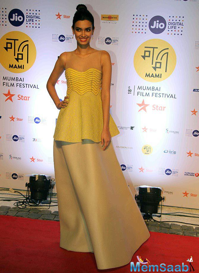 Diana Penty shines on the red carpet.This year, 175 films will be screened at the festival, which including features, documentaries and short films from 54 countries.
