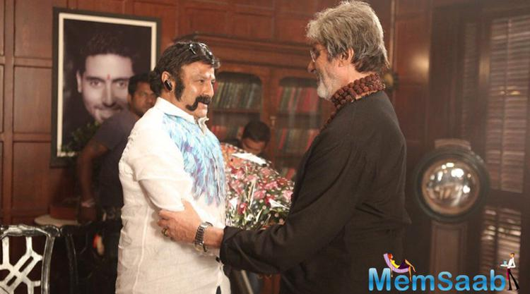 Actually Balakrishna roped Amitabh Bachchan in his next Telugu movie, which titled 'Rythu'. it will be directed by Krishna Vamsi.