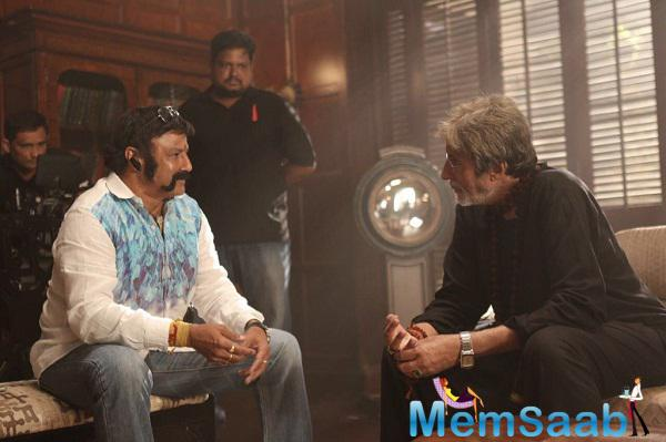 Everybody has excitement in it,  when Balakrishna paid a visit to Amitabh Bachchan on the sets of 'Sarkar 3'.
