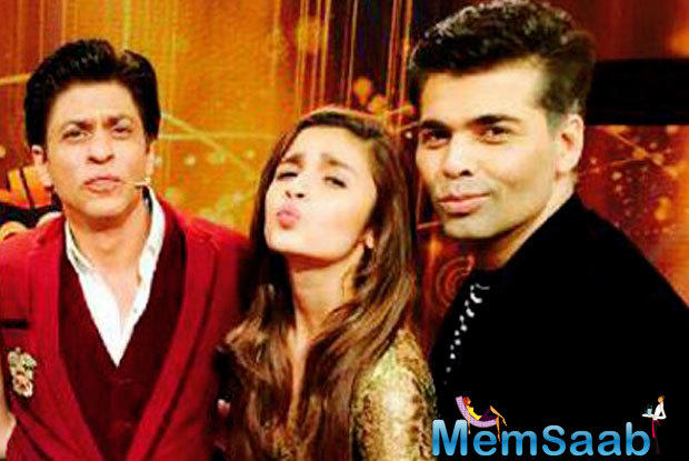 Karan Johar's popular chat show 'Koffee with Karan' will air on 6 November, and Alia and SRK will be the first guests on the show.